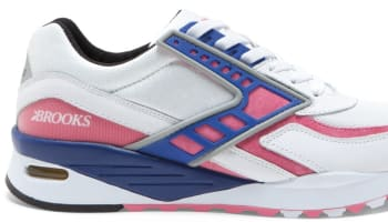 Brooks Regent White/Pink Lemonade-Deep Ultramarine