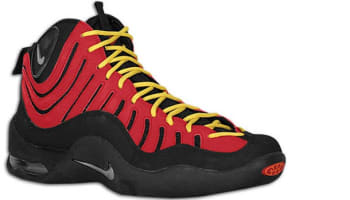 Nike Air Bakin' Black/Metallic Silver-Varsity Red-Orange Blaze