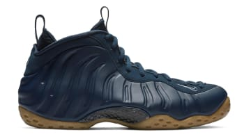 Nike Air Foamposite One Midnight Navy/Gum Light Brown-White-Midnight Navy