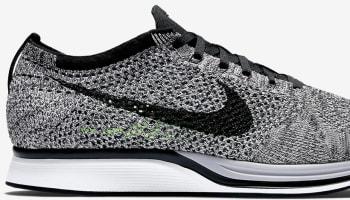 Nike Flyknit Racer White/Black-Volt
