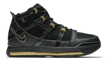 Nike Zoom LeBron 3 Black/Gold