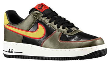 Nike Air Force 1 Low Black/Parachute Gold-Dark Loden