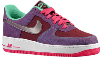 Nike Air Force 1 Low Cherrywood Red/Pink Foil-Green Glow