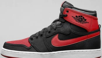 Air Jordan 1 Retro KO High OG Black/Varsity Red-White