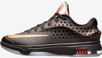 Nike KD VII Elite Black/Classic Charcoal-Hot Lava-Red Bronze