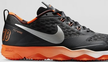 Nike Zoom Hypercross TR Black/Brilliant Orange-White-Metallic Silver