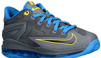 Nike LeBron 11 Low GS Dark Grey/Black-Photo Blue-Tour Yellow