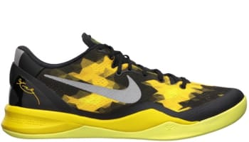 Nike Kobe 8 System Black/Stree Grey-Vivid Sulfur
