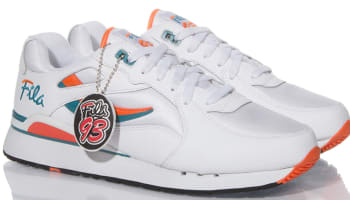 Fila Overpass White/Radiant Orange-Scuba Blue