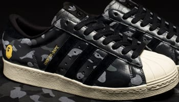 BAPE x adidas Originals Superstar 80s Black Camo