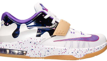 Nike KD VII GS White/Hyper Grape-Fuchsia Force-Team Orange