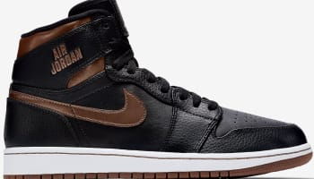 Air Jordan 1 Retro High Black/Brown-Metallic Bronze