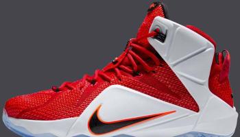 Nike LeBron 12 Gym Red/White-Bright Crimson-Black