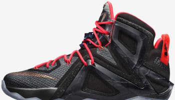 Nike LeBron 12 Elite Black/White-Hot Lava-Metallic Red Bronze