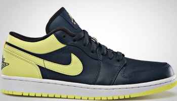 Air Jordan 1 Low Squadron Blue/Electric Yellow-Night Stadium-White