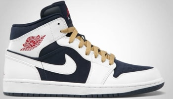 Air Jordan 1 Phat Mid Obsidian/Gym Red-White