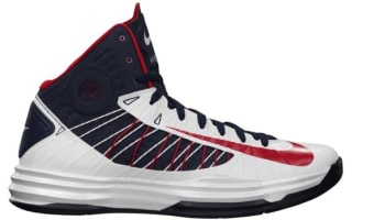 Nike Lunar Hyperdunk 2012+ White/University Red-Obsidian