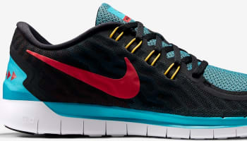 Nike Free 5.0 2015 N7 Black/University Red-Dark Turquoise-White
