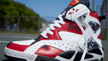 Reebok Blacktop Battleground Pump White/Black-Excellent Red