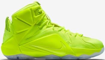Nike LeBron 12 EXT Volt/Volt-White-Black