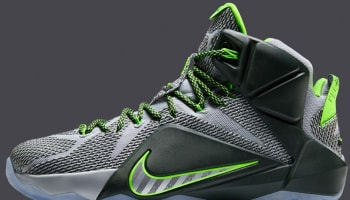 Nike LeBron 12 Wolf Grey/Reflect Silver-Black-Electric Green