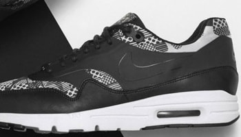 Nike Air Max 1 Ultra BHM Women's Black/White-Metallic Silver-Black