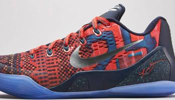 Nike Kobe 9 EM Premium QS Laser Crimson/Reflective Silver-Obsidian