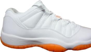 Air Jordan 11 Retro Low Girls White/White-Citrus