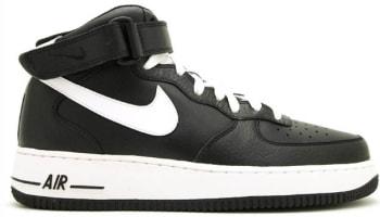Nike Air Force 1 Mid Black/White-Black