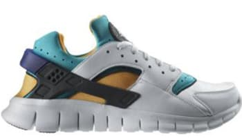 Nike Huarache Free Run 2012 QS White/White-Blue Emerald-Resin