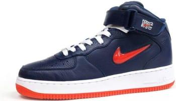 Nike Air Force 1 Mid Midnight Navy/Team Orange