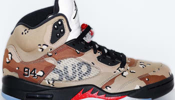 Air Jordan 5 Retro Desert Camo/Fire Red-Black