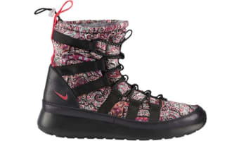 Nike Roshe Run Hi Sneakerboot Liberty QS Women's Black/Solar Red-Black