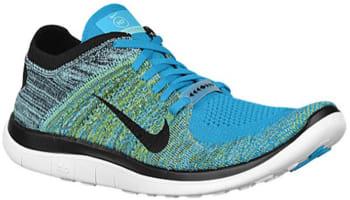 Nike Free 4.0 Flyknit N7 Neo Turquoise/Fierce Green-Hyper Turquoise-Black