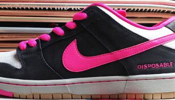 Nike Dunk Low Premium SB Black/Pink Foil-White