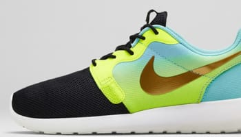 Nike Roshe Run HYP Premium Women's Black/Metallic Gold Coin-Hyper Punch-Gamma Blue