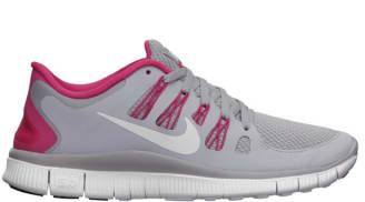 Nike Free 5.0+ Women's Wolf Grey/Pink Force-White