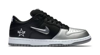 Supreme x Nike SB Dunk Low Metallic Silver/Metallic Silver-Black