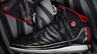 adidas Rose 4.5 Black/Running White-Light Scarlet