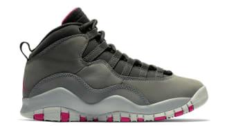 a9c207f13bb623 Air Jordan 10 Retro GS Dark Smoke Grey Rush Pink-Black