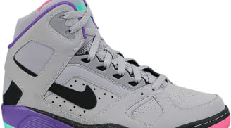 Nike Air Flight Lite High Wolf Grey/Black-Hyper Punch-Hype Jade-Pure Purple