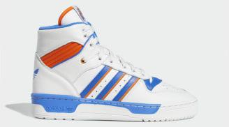 Eric Emanuel x Adidas Rivalry Hi Crystal White/Blue/Orange