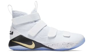 Nike LeBron Soldier 11 White/Metallic Gold-Black