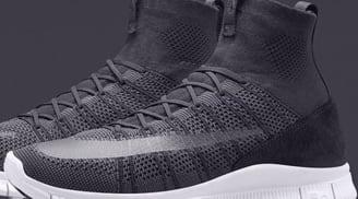 Nike Free Mercurial Superfly Dark Grey/White