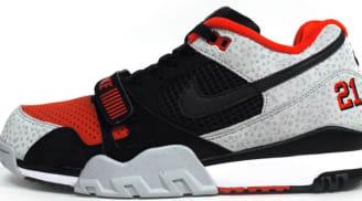33c6e6e2f20a Nike Air Trainer 2 Premium QS Black Black-Team Orange-Wolf Grey