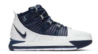 Nike Zoom LeBron 3 White/Navy Blue-Silver
