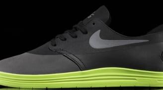 Nike Lunar One Shot SB Black/Reflective Silver-Volt