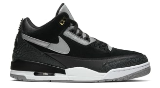 Air Jordan 3 Tinker Black/Cement Grey-Metallic Gold