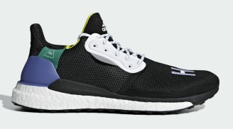 Pharrell x Adidas SolarHu Glide St Core Black/Cloud White/Bold Green