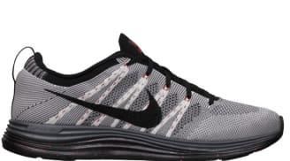 Nike Free Flyknit Lunar1 White/Black-Dark Grey-University Red